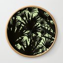 Modern black green abstract tropical leaves by pink_water