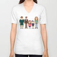 gravity falls V-neck T-shirts featuring Gravity Falls 8-bit by Evelyn Gonzalez