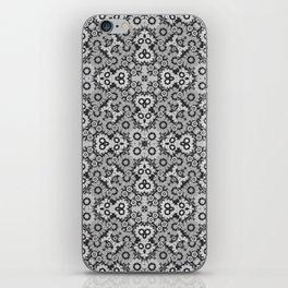 Geometric Stylized Floral Print iPhone Skin