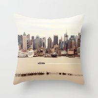nyc Throw Pillows featuring NYC by Enkel Dika