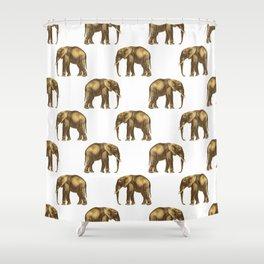 Glamorous elephants Shower Curtain