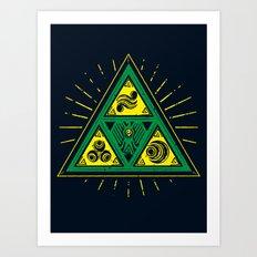 The Tribal Triforce Art Print