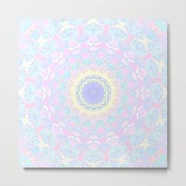 Pastel Triangles Kaleidoscope Metal Print
