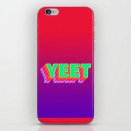 YEET Meme Colorful Typography iPhone Skin