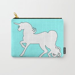 White Unicorn Silhouette Carry-All Pouch