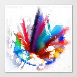 Dancing Peacock  Canvas Print