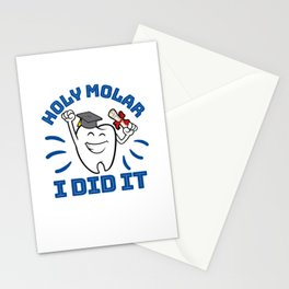 Holy Molar I Did It Dentist Dental Hygienist Graduation Stationery Cards