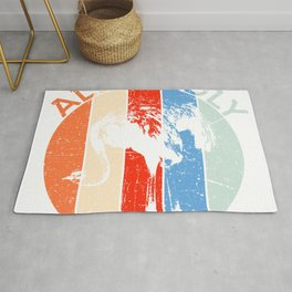 """Hilarious Gift For Farmers """"Allegedly"""" Flightless Birdline Ostrich Wing Africa Largest Species Rug"""