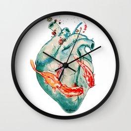 Koi heart Wall Clock
