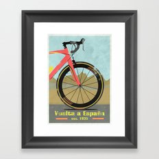 Vuelta a Espana Bike Framed Art Print