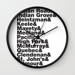 Junction& Wall Clock