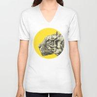 eric fan V-neck T-shirts featuring Wild 4 by Eric Fan & Garima Dhawan by Garima Dhawan