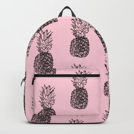 Pineapple Pattern in Pink Backpack