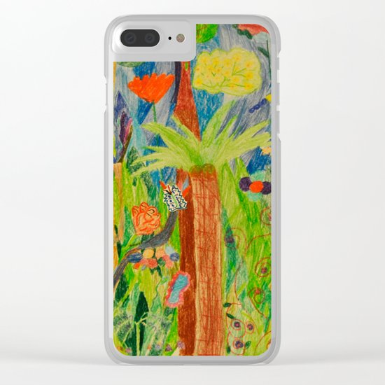 Paradise Delight   Kids Painting by Elisavet Clear iPhone Case