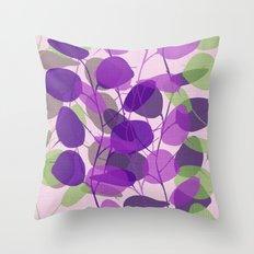 Lunaria Lavender Throw Pillow