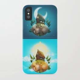 Day and night iPhone Case