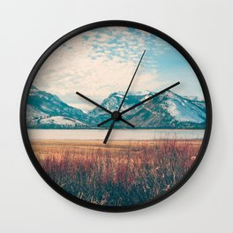 Jackson Lake Shoreline Wall Clock