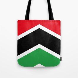 Chevron Libya Flag Colors Tote Bag