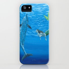 Mermaid & Dolphin - No. 2 iPhone Case