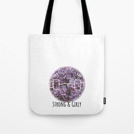 strong & girly Tote Bag