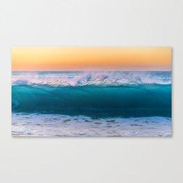 Sunset Ocean Beach Wave Canvas Print