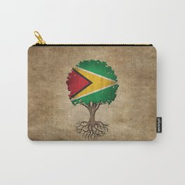 Vintage Tree of Life with Flag of Guyana Carry-All Pouch