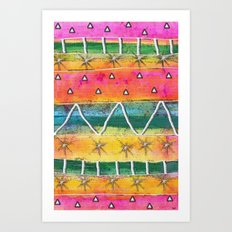 Mount Sunrise Art Print