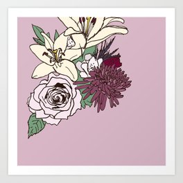 Flowers From The Universe Art Print