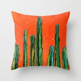 Column Cactus Throw Pillow