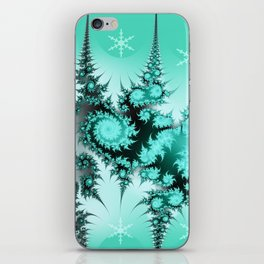 Winter magic in soft blue iPhone Skin
