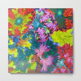 Maxi Mini Anemone Collage Metal Print