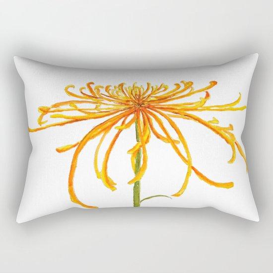 one orange chrysanthemum Rectangular Pillow
