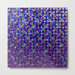 Polka Dot Sparkley Jewels G263 Metal Print