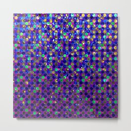 Polka Dot Sparkley Jewels G263 Metal Print