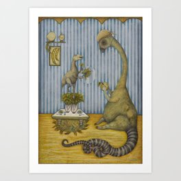 Dining with Herbivores Art Print