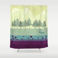 wildlife Shower Curtains featuring Wildlife by Kakel
