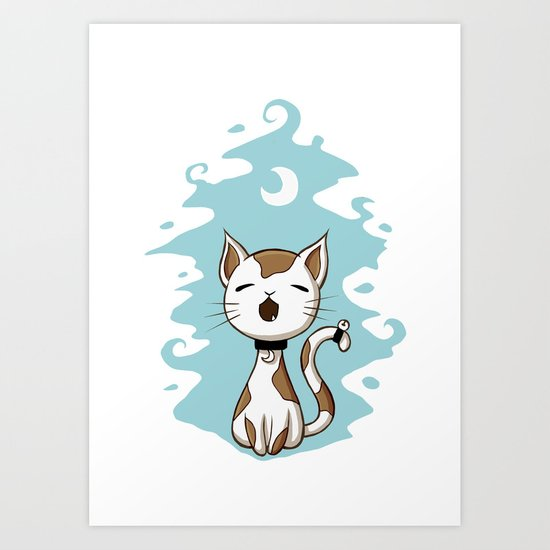 Singing Cat Art Print