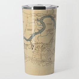 Vintage Map of The Charles River (1894) Travel Mug