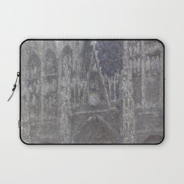 The Cathedral in Rouen. The portal, Grey Weather. by Claude Monet Laptop Sleeve