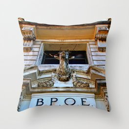 Historic Elks Lodge Throw Pillow