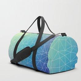 Abstract Blue Geometric Triangulated Design Duffle Bag