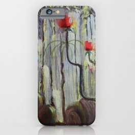 Red Poppies - View of the World Creation of the World No. IX by Mikalojus Konstantinas Ciurlionis iPhone Case