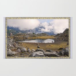 BLUE AND GOLD MOUNTAIN SOLITUDE Rug