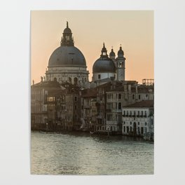 Sunrise over Venice Poster