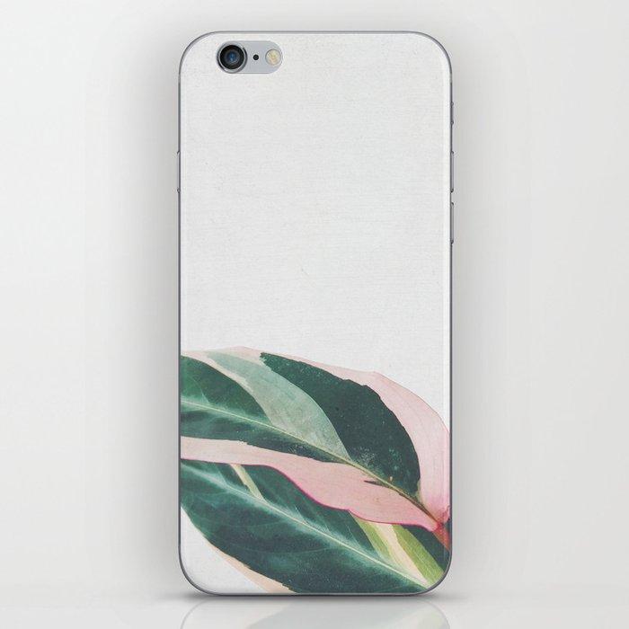 Pink Leaves II iPhone Skin