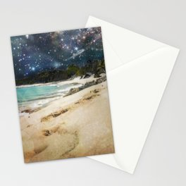 Midnight Beach Stationery Cards