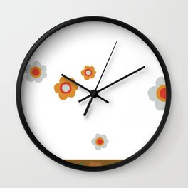 Peace of flowers - Cool designs Wall Clock