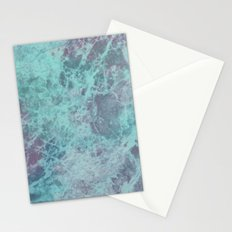Green Purple Marble Stationery Cards