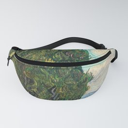 Cypresses by Vincent van Gogh Fanny Pack