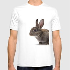 The Sweetest Chocolate Bunny  White MEDIUM Mens Fitted Tee